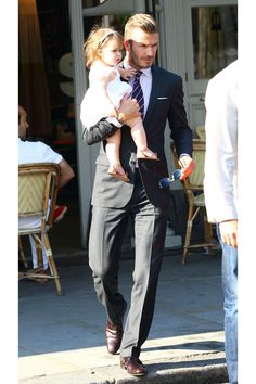 My favorite Father-daughter duo! David Beckham and Harper