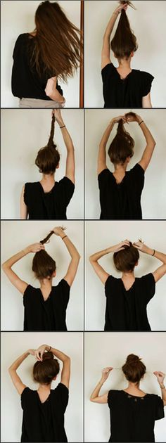 the perfect messy bun .. if only I had long hair for one day. I always try to do this and I look like a deranged ballerina with a fat head.