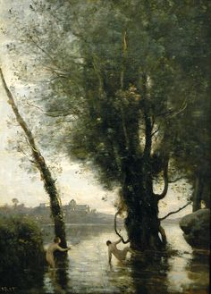 Camille Corot: Bathers of the Borromean Isles / i got a postcard of the picture in Mitsubishi ichigoukan art museum.