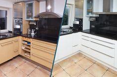 Küchenrenovierung Kitchen Cabinets, Kitchen Appliances, Wall Oven, Layout, Modern, Home Decor, Industrial Style Kitchen, Old Kitchen, Diy Kitchen Appliances