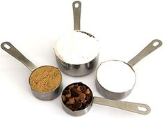 Stainless Steel Measuring Cups 4 piece set Chef Quality and Commercial Durability  Koem *** This is an Amazon Affiliate link. Check out the image by visiting the link.