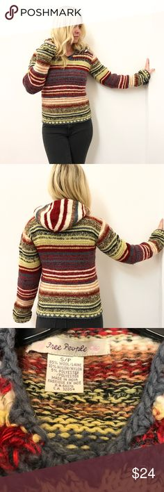 """Vintage Free People sweater S Small Free People sweater . Sz small. Chest flat across 17"""" length 22"""" Free People Sweaters"""