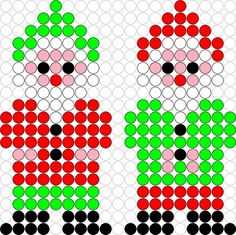 DIY Hama Beads Two Little Gnomes Pattern * Kralenplank/ Hama Beads patroon: Twee Kleine Kaboutertjes! Fuse Beads, Perler Beads, Lego, Cute Sewing Projects, Pearler Bead Patterns, Bottle Cap Crafts, Beaded Crafts, School Themes, Create And Craft