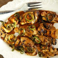 Easy Weeknight Honey Jalapeno Chicken Thighs Recipe - GF with Tamari instead of conventional soy sauce. New Recipes, Dinner Recipes, Cooking Recipes, Favorite Recipes, Healthy Recipes, Cooking Tips, Real Cooking, Easy Recipes, My Burger