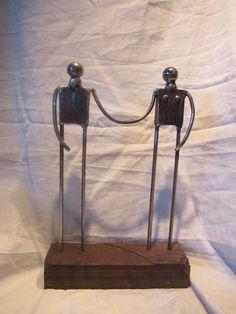 escultura en hierro reciclado metal, iron, scrap, sculpture, recycled
