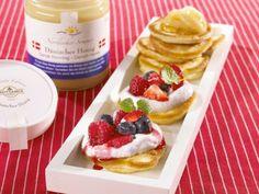 Rezept Dänische Pancakes mit Honig-Früchten und Ricotta-Creme, unser Rezept…