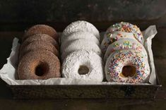Baked Doughnuts Three Ways A simple baked doughnut recipe transformed into the type of your choice: cinnamon sugar, plain sugar, coconut, or more. Baked Doughnut Recipes, Doughnut Pan, Baked Doughnuts, Yummy Donuts, Flour Recipes, Baking Recipes, Bread Recipes, Nutella, Milk Nutrition