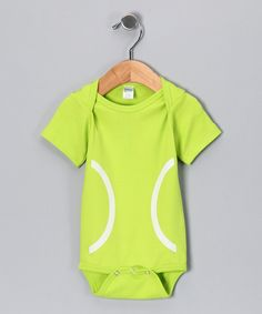Look at this Bambino Balls Neon Green Tennis Bodysuit - Infant on #zulily today!