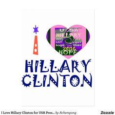 私は米国の大統領の芸術のためのHeartヒラリー・クリントンを愛します