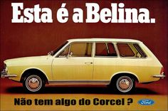 Anúncio Ford Corcel Belina 1970