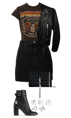 """Untitled #879"" by ayalikeschicken ❤ liked on Polyvore featuring MadeWorn, IRO, rag & bone, Yves Saint Laurent and Acne Studios"