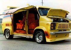 Customized 70's Van