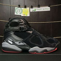 check out 95869 d66ff (eBay Sponsored) Nike Air Jordan 8 Retro Bred Black Cement Red Wolf Grey  305381 022 Size 10 NBT