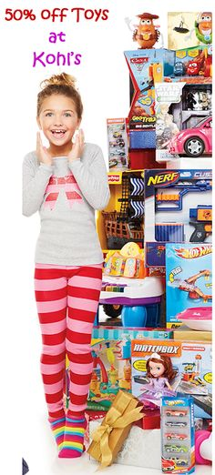 Kohl's: 50% OFF HOT Toy Brands + Additional 20-25% OFF + earn Kohl's Cash!