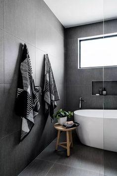 Small Bathroom Design Ideas Australia a Bathroom Tile Looks on Bathroom Decor Color Schemes Minimalist Bathroom Design, Minimalist Bed, Modern Bathroom Design, Bathroom Interior Design, Modern House Design, Decor Interior Design, Interior Decorating, Bathroom Designs, Minimalist Design