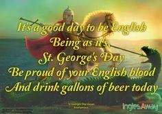 @inglesaway St #George'sDay. Día oficial en Inglaterra.23 Abril.