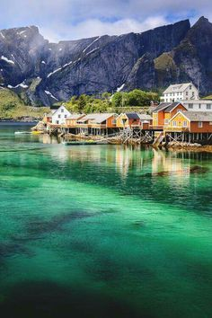 Reine Lofoten Norway  Actually stayed there it's not reine it's the small island before it
