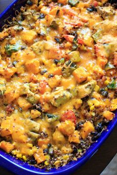 Butternut squash quinoa casserole is full of vegetables and makes a delicious vegetarian, gluten-free, and vegan friendly casserole for the whole family.