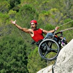 Wheelchair rock climbing #rockclimbing #tough #motivation #wheelchair