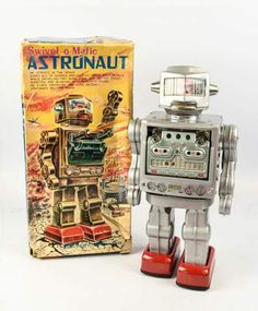 Vintage Swivel-o-Matic Astronaut Toy Robot!