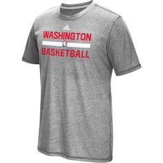 adidas Men s Washington Wizards Grey Aeroknit Shooting Shirt ab0afd0ad