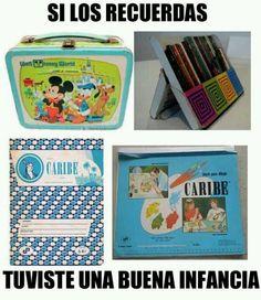Artículos escolares que se usaban hace mas de 20 años en Venezuela