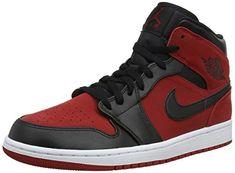 buy online 20905 97033 NIKE Jordan Men s Air Retro 1 Basketball Shoe, Gym Red Black-White (610),  11.5