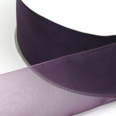 Forest Green Woven Edge Sheer Organza Ribbon 10M 5M Wedding Invite Crafts