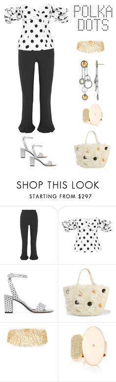 """So Dotty: Polka Dots"" by karen-galves ❤ liked on Polyvore featuring Opening Ceremony, Caroline Constas, Tabitha Simmons, Sensi Studio, Ana Khouri, lito, John Hardy and PolkaDots"