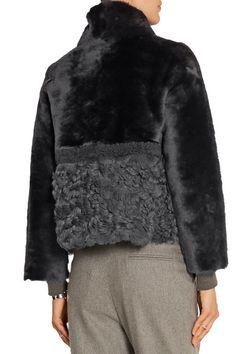 Charcoal shearling, black leather Slips on Fabric1: 100% shearling (Lamb); fabric2: 100% leather (Lamb) Specialist clean Designer color: Ash Gray