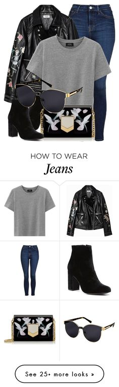"""""""Late Night"""" by smartbuyglasses on Polyvore featuring Topshop, Witchery, Jimmy Choo and Karen Walker"""
