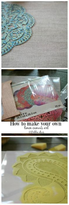 How to make your own canvas art - Debbiedoos @michaelsstores