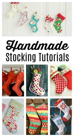 Handmade Christmas Stocking Tutorials - Diary of a Quilter Christmas Sewing Projects, Christmas Quilt Patterns, Christmas Stocking Pattern, Christmas Quilting, Handmade Felt, Handmade Christmas, Christmas Crafts, Christmas Ideas, Christmas Goodies