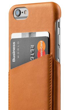 Leather Wallet Case for iPhone 6(s) - Tan - Mujjo