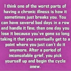 Been there one million times....so tired of this cycle. #chronicfatigueawareness