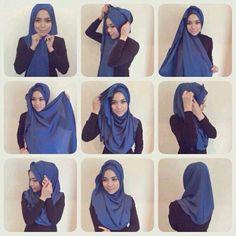 #hijabWearStyle#blue Tutorial de Hijab
