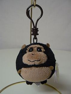 b2147517e4d Ty Beanie Ballz TANK Brown Gorilla Monkey Plush NEW Backpack Bag Clip Ty  Beanie Ballz