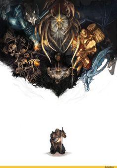 Dark Souls,фэндомы,DS art,Gwyndolin,DS персонажи,Dragon slayer Ornstein,Executioner Smough,Gravelord Nito,Great Grey Wolf Sif,Pinwheel,Lord of Cinder Gwyn,Seath the Scaleless,Capra Demon,Oscar Knight of Astora,Iron Golem
