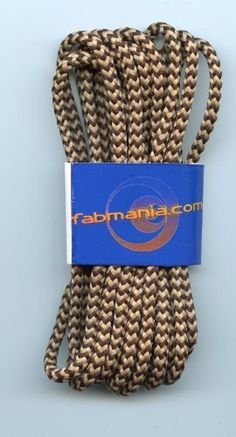 """Boot Laces Brown and Oatmeal 1/8"""" - 3/16"""" Diameter for Hiking (70"""" - 180cm) by fabmania. $3.90"""