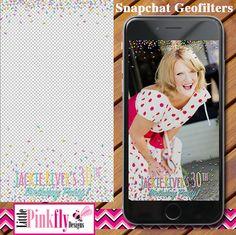 Birthday Party Geofilter GF-519 Milestone by LittlePinkflyDesigns