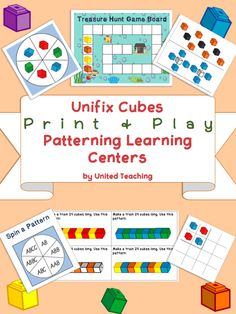 Unifix Print & Play Patterning Learning Centers