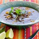 Caribbean Black Bean Soup in Vitamix