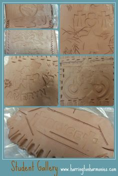 Student Art Gallery from Cylinder seal/clay project. | Harrington Harmonies
