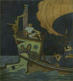 Jason Appointed Tiphys the Stargazer - Edmund Dulac