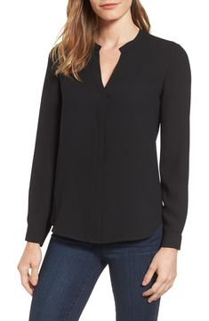 Looking for Anne Klein Mix Media Blouse ? Check out our picks for the Anne Klein Mix Media Blouse from the popular stores - all in one. Anne Klein, Boucle Coat, Dressy Pants, Stylish Tops, Blouse Online, Blouse Styles, Work Casual, Mix Media, Nordstrom