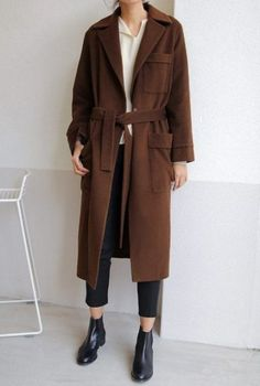 woolen-trench-coat Trench Coat Outfits Ways to Wear Trench Coats this Winter Trench Coats, Trench Coat Outfit, Coat Dress, Look Fashion, Korean Fashion, Fashion Outfits, Womens Fashion, Petite Fashion, Fashion Coat