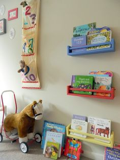 ace ikea spice rack shelves project by this little house...this little DIY - boy loves his books