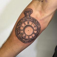 pocket watch tattoo74