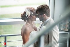 Bride and groom at rustic modern Atlanta wedding.  NO TRAVEL FEES ANYWHERE IN THE US!