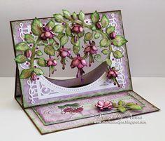 Designs by Marisa: Heartfelt Creations - Cascading Fuchsia Card
